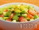 Рецепта Салата от краставици, скариди и авокадо